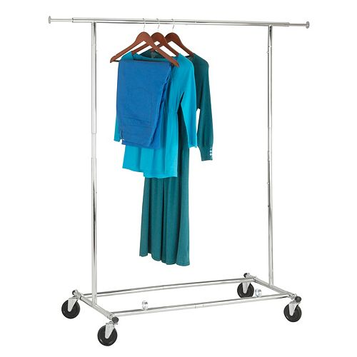 Commercial Garment Rack with Two Locking Casters