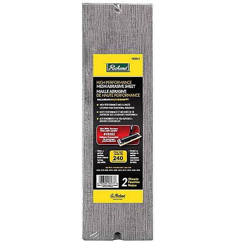 Mesh Abrasive Sheet Grit 240 (2-Pack)
