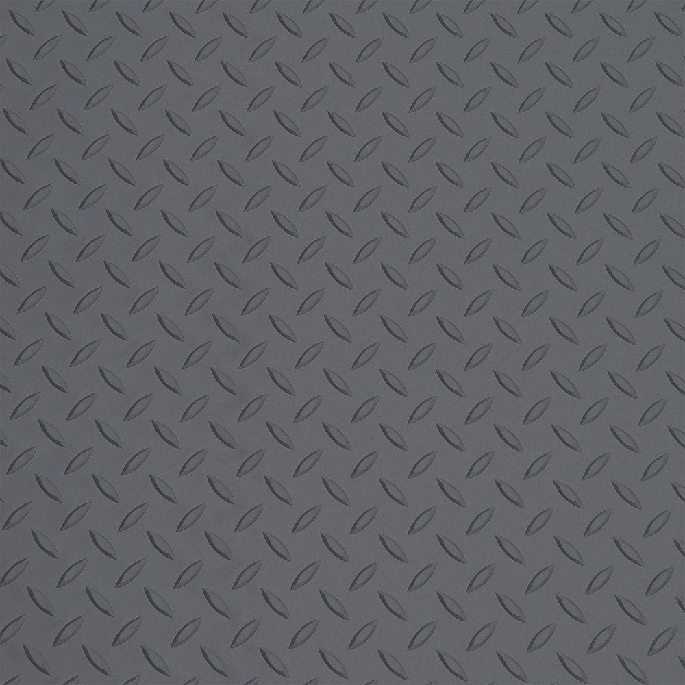 Diamond Deck 5 ft. x 3 ft. Battleship Gray  Door Mat