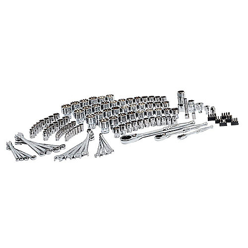 1/4, 3/8 and 1/2-inch Universal Pass-Through Mechanics Tool Set (126-Piece)