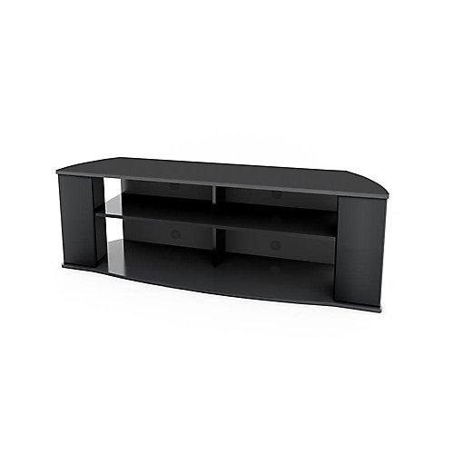Meuble pour téléviseur de 60 po x 19,75 po x 15,75 po Essentials en noir.