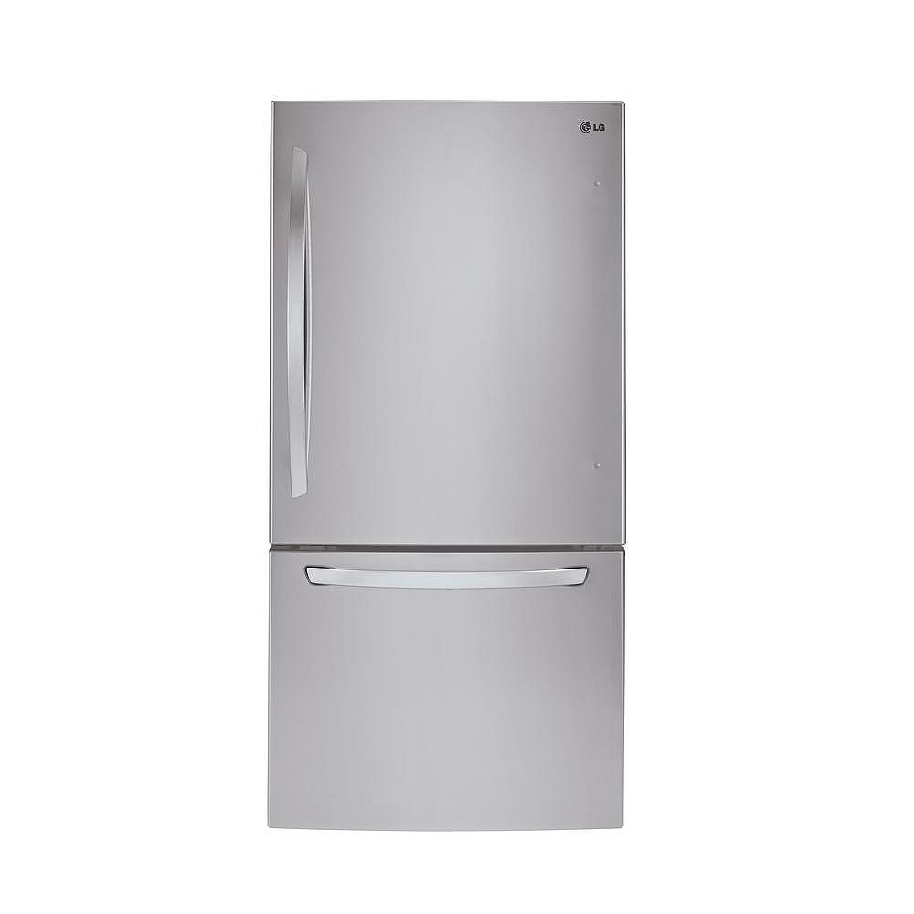 LG Electronics 30-inch W 22 cu. ft. Bottom Freezer Refrigerator in Stainless Steel