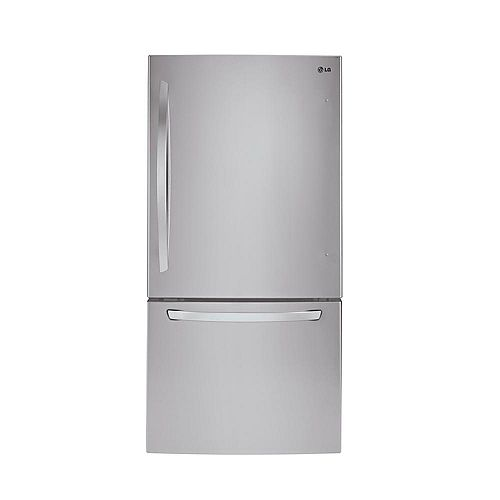 30-inch W 22 cu. ft. Bottom Freezer Refrigerator in Stainless Steel - ENERGY STAR®