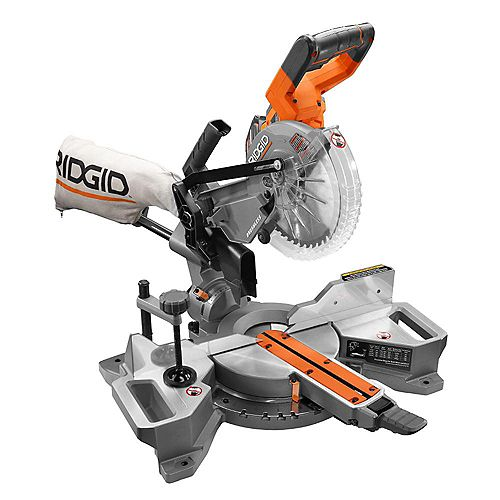 18V Cordless 7-1/4-inch Sliding Dual Bevel Mitre Saw with 5.0 Ah Battery and Charger