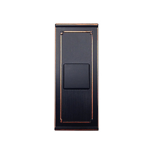 Wireless Door Bell Push Button, Mediterranean Bronze
