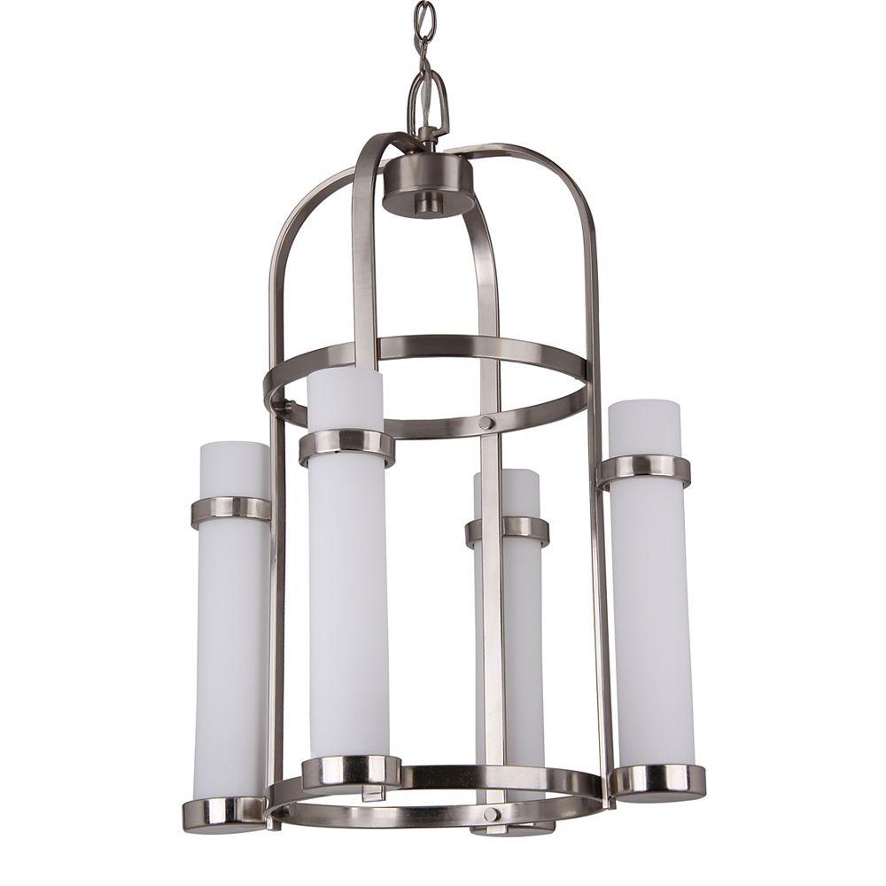 Shawson Lighting 4 Light Chandeliler, Brushed Nickel Finish