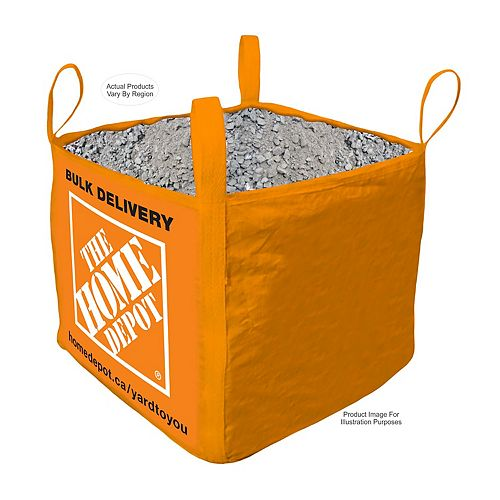 Crushed Stone  - Bulk Bag Delivered - 1 Cubic Yard (0-19mm / 0 - 3/4in)
