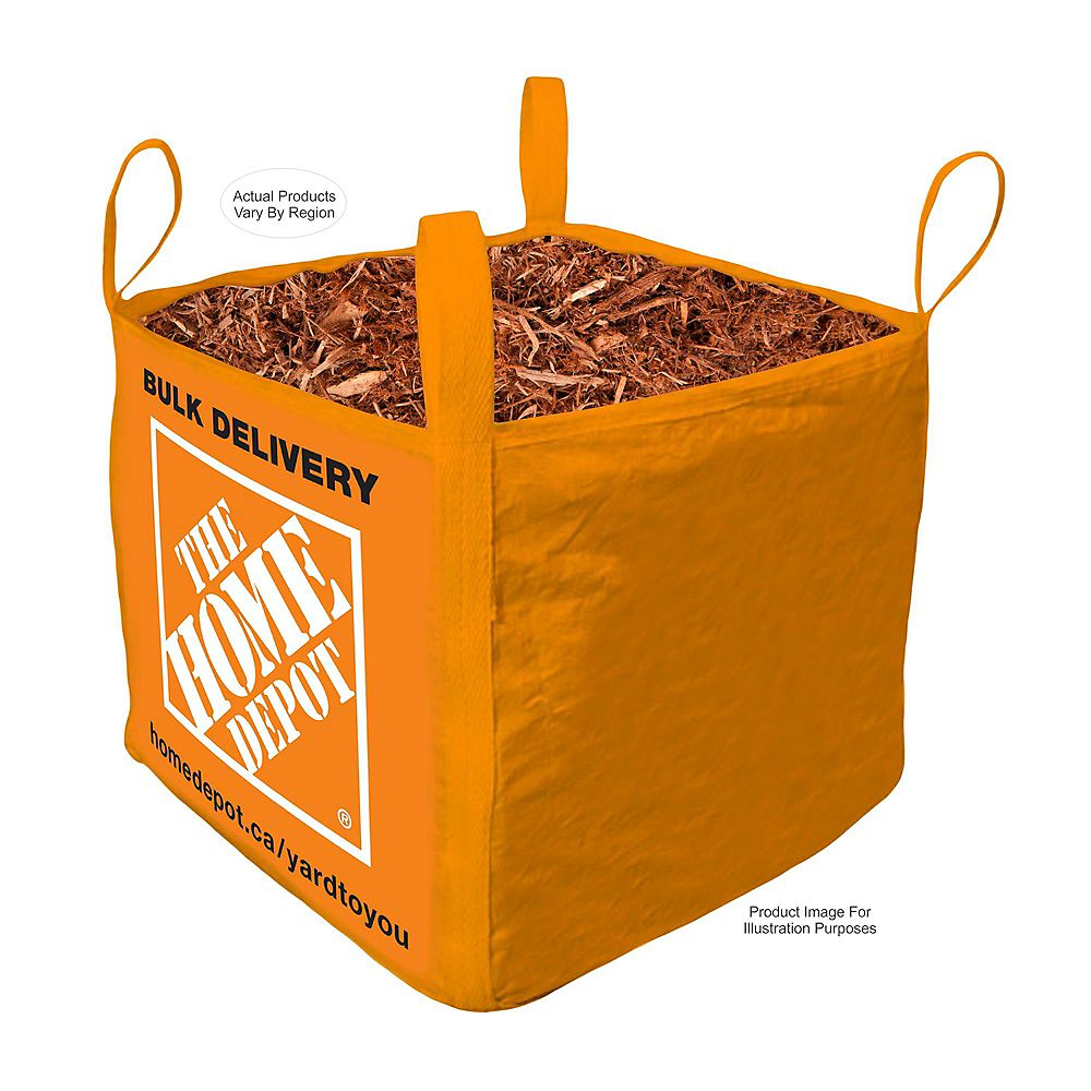 Yard-to-you Brown Mulch  - Bulk Bag Delivered - 1 Cubic Yard
