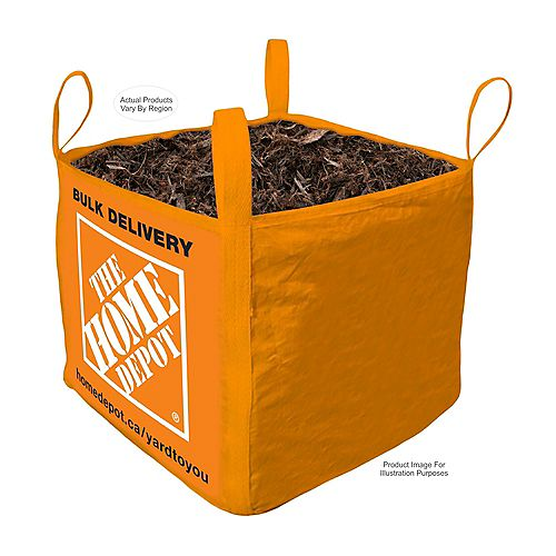 Black Mulch - Bulk Bag Delivered - 1 Cubic Yard