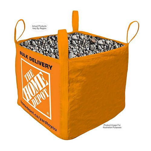 River Stone - Bulk Bag Delivered - 1 Cubic Yard (20 - 76mm / 3/4 - 3in)