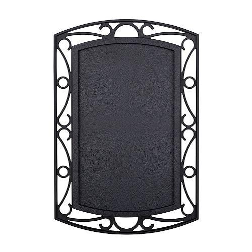 Hampton Bay Sans fil ou filaire de Bell porte - noir avec Scroll Métal Accents