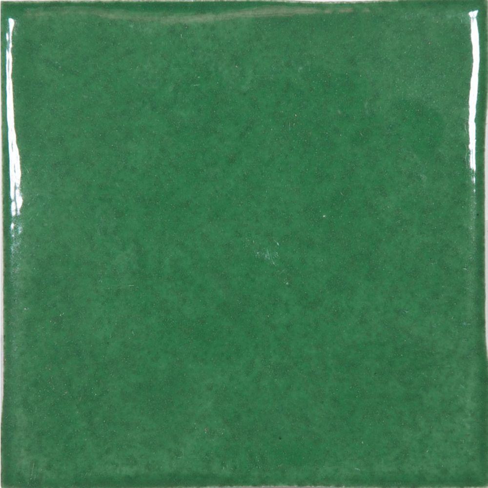 Enigma Mediterrano 4-inch x 4-inch Wall Tile in Green (6.89 sq. ft./case)