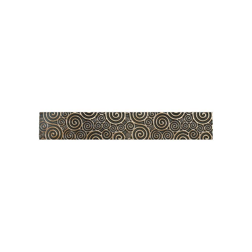 Enigma Luminor 2-inch x 12-inch Metal Border Tile in Cast Bronze