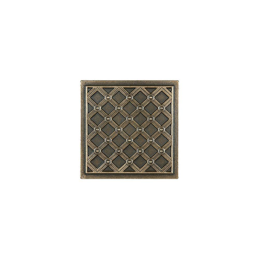Enigma Carreau décoratif en bronze coulé Kairos de 4po × 4po
