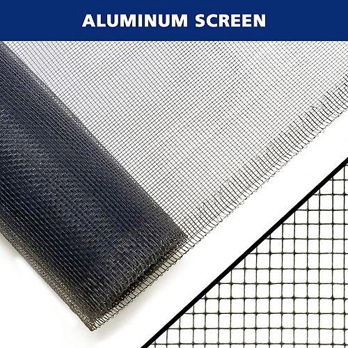 36 po x 84 po noir Moustiquaire en aluminium