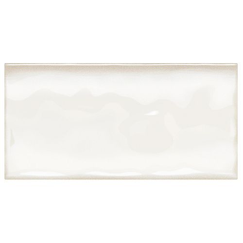 Dal Tile Structured Effects Minimal White 3 Inch x 6 Inch Glazed Ceramic Wall Tile