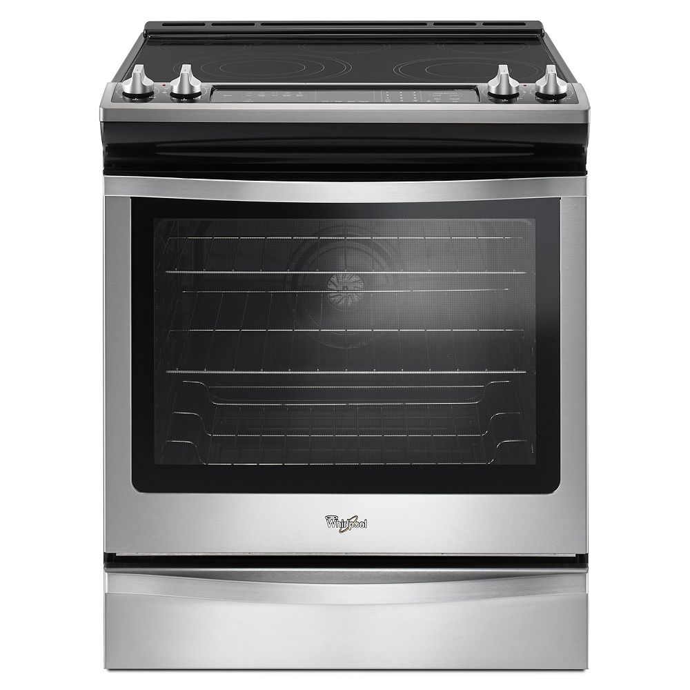 Whirlpool 6.4 cu.ft. Slide-In Electric Range with Self-Cleaning True Convection Oven in Stainless Steel