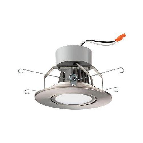 Lithonia Lighting Module DEL à suspension à cadran de 12,7cm (5po) encastré – nickel brossé