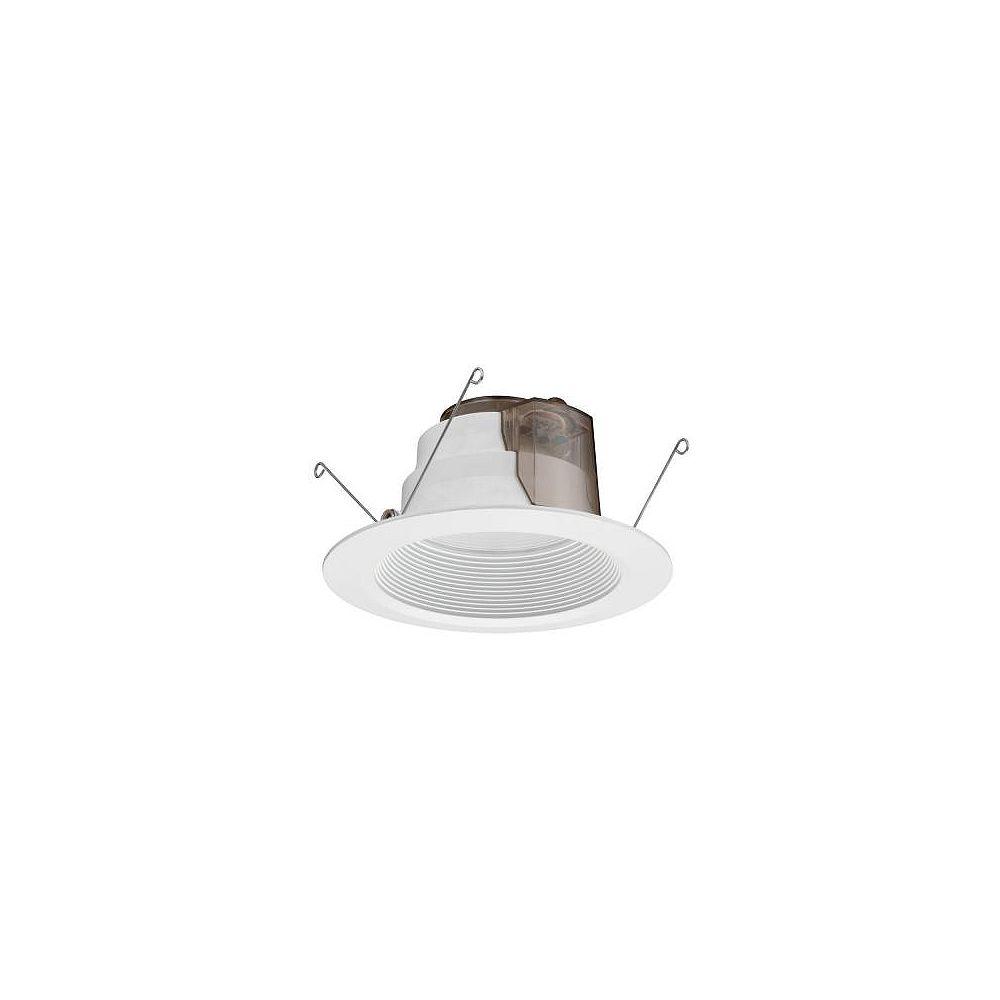 Lithonia Lighting Module DEL de 15,2 cm (6 po) avec déflecteur, encastré pour plafond haut  blanc mat
