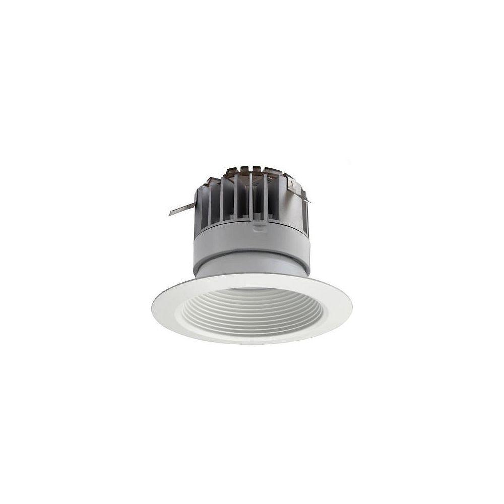 Lithonia Lighting Module DEL de 15,2 cm (4 po) et de 30K 90CRI avec déflecteur, encastré  blanc mat