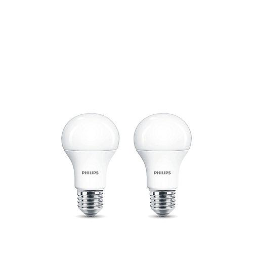 15W=100W Daylight A19 LED  Light Bulb (2-pack)
