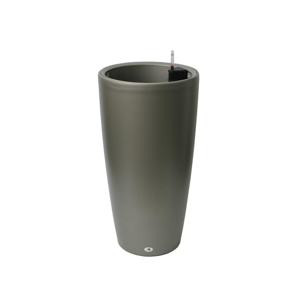 Algreen Products 22205 30-inch Self-Watering Round Modena in Matte Granite