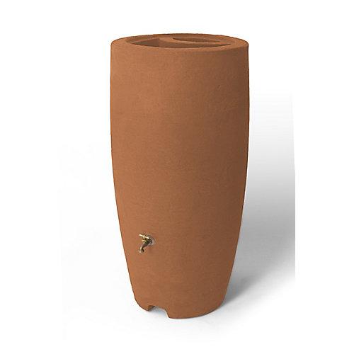 Athena 80 Gal. Rain Barrel with Brass Spigot in Terra Cotta