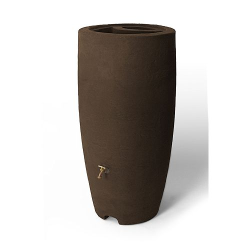 Athena 80 Gal. Rain Barrel with Brass Spigot in Brownstone