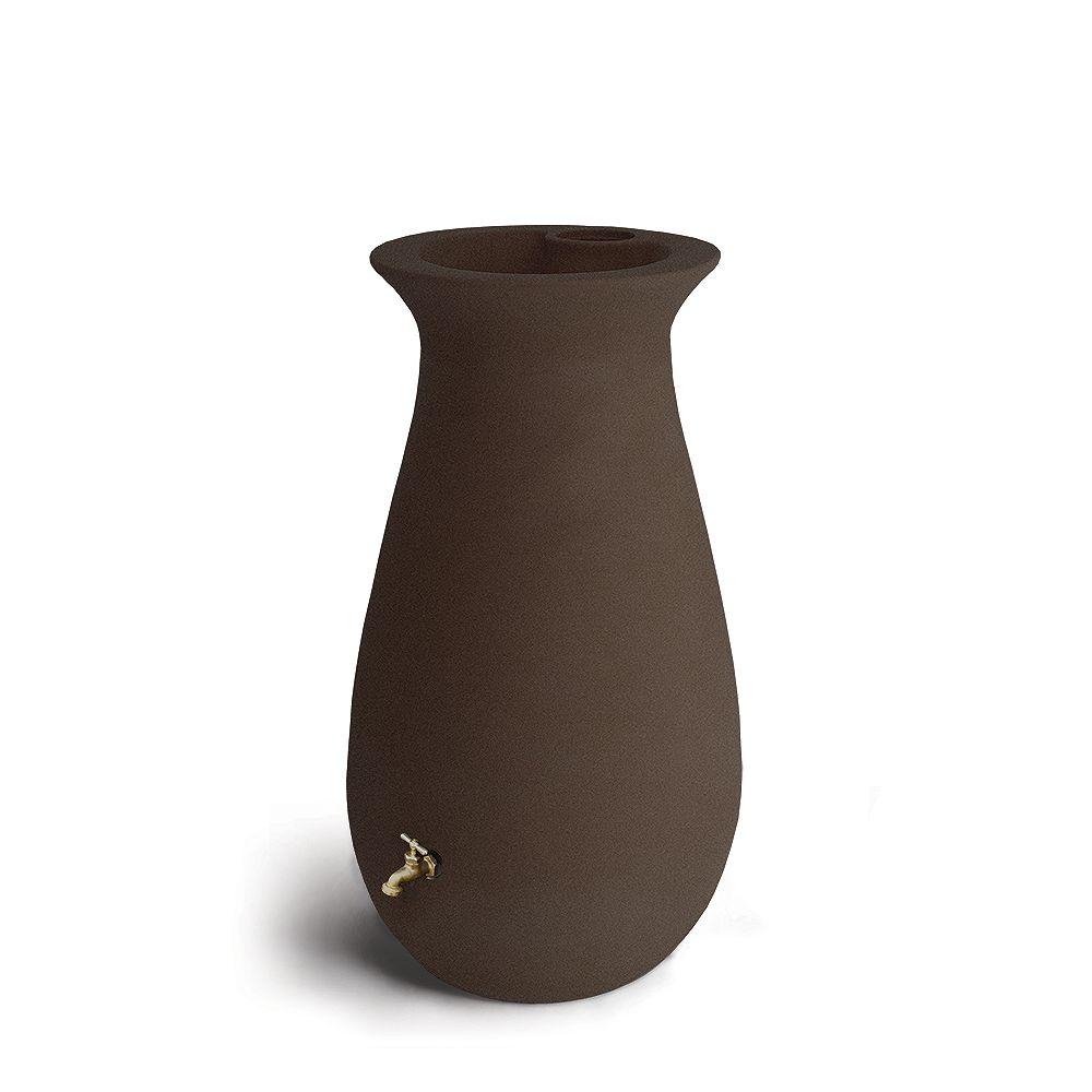 Algreen Products Ecocascata 65 Gal. Rain Barrel in Brownstone