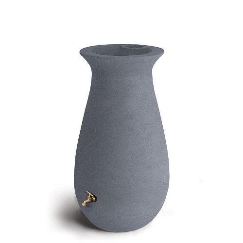 Ecocascata 65 Gal. Rain Barrel in Charcoal Stone