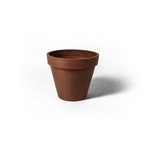 Valencia 13 3/4-inch x 12-inch H Round Band Planter Pot in Textured Terra Cotta