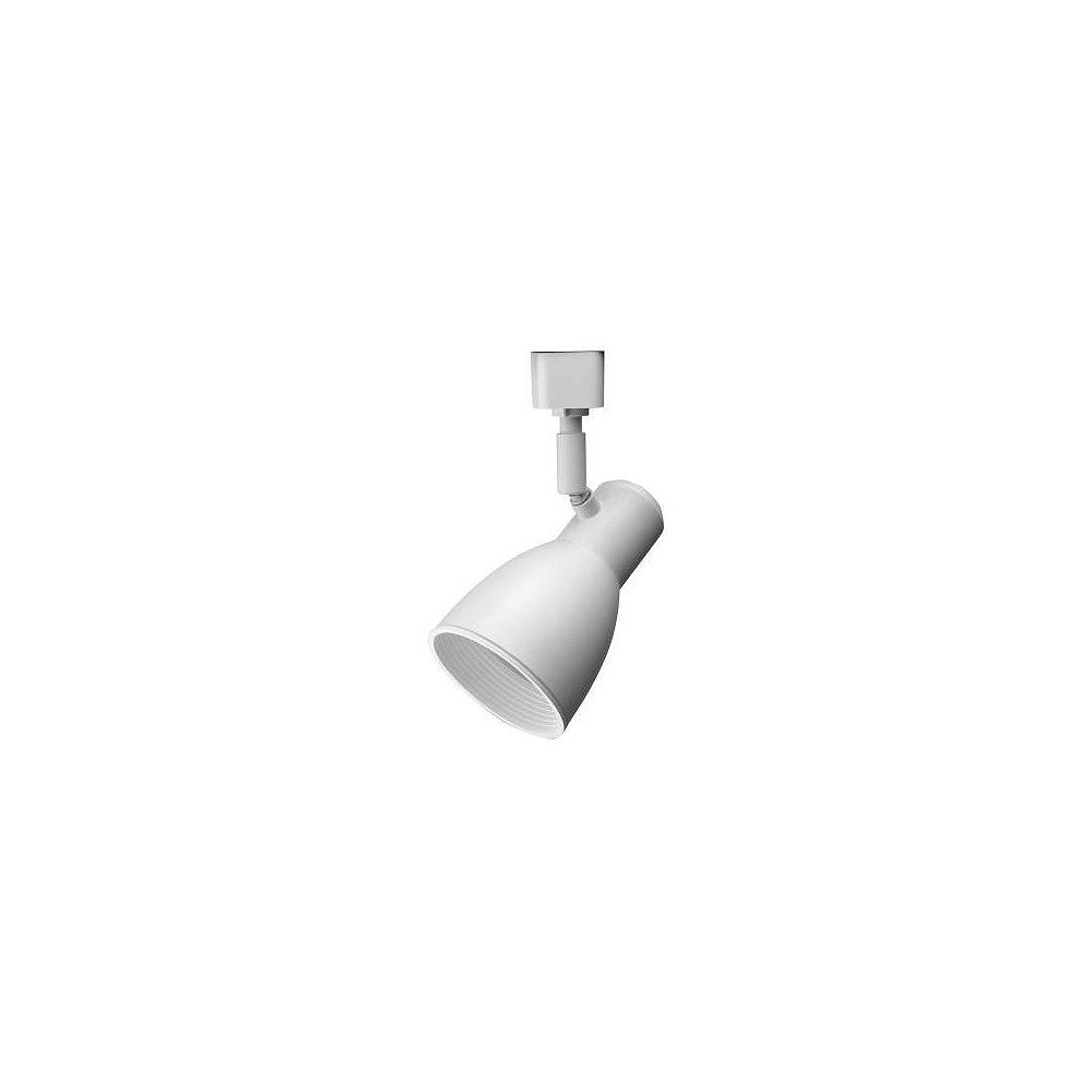 Lithonia Lighting Tête à déflecteur étroite et blanche à1lampe déclairage sur rail