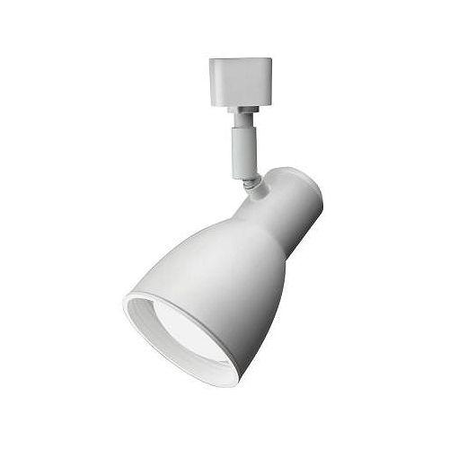 Tête à déflecteur étroite et blanche à1lampe DEL déclairage sur rail