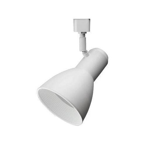 Tête à déflecteur large et blanche à1lampe DEL déclairage sur rail