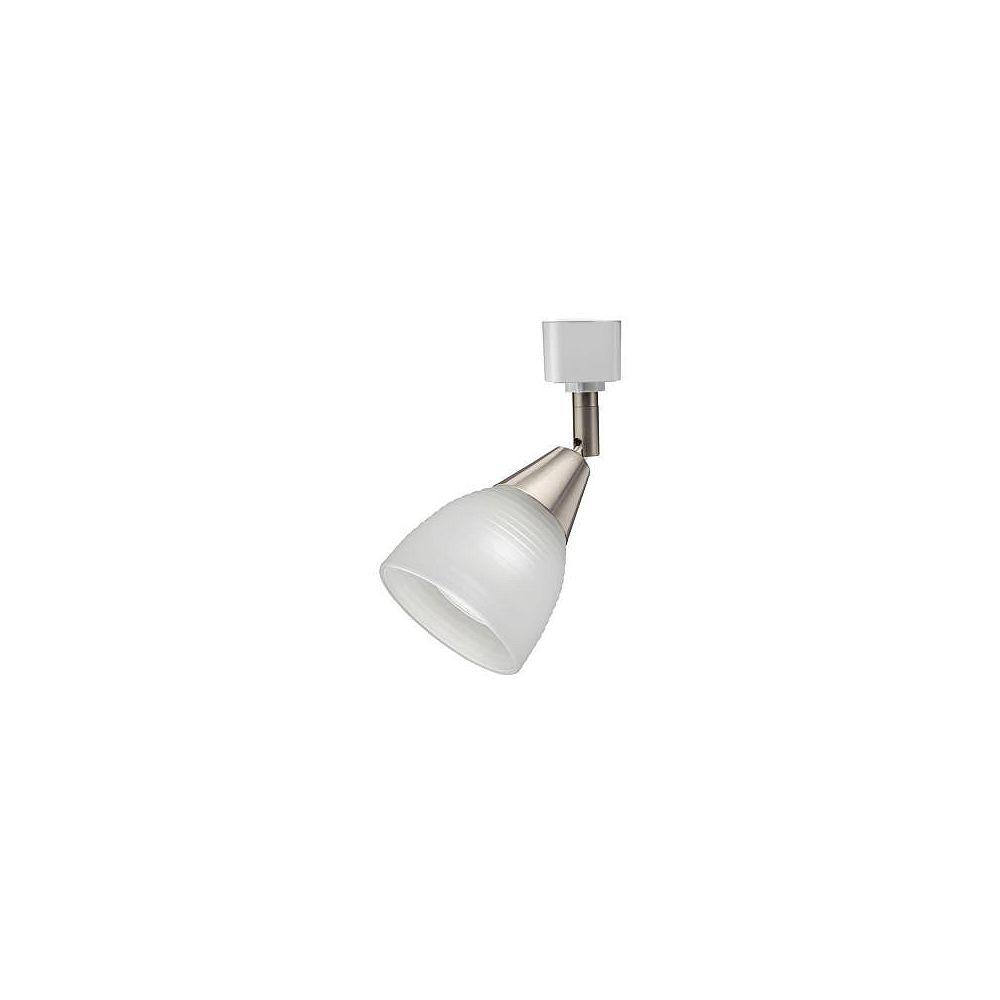 Lithonia Lighting Tête à nervures et dépolie en nickel brossé à 1 lampe halogène déclairage sur rail