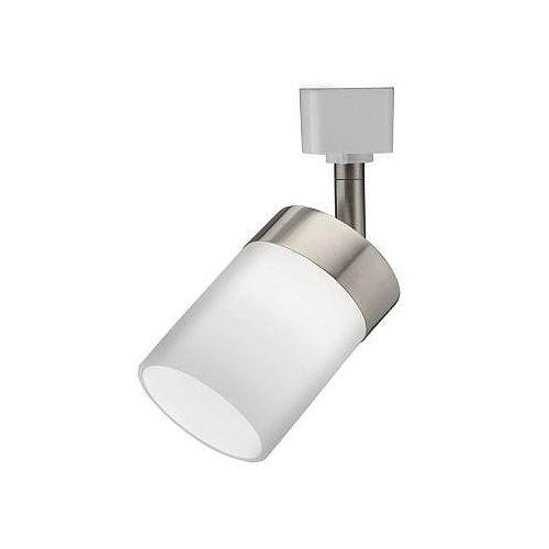 Tête avec verre en manchon en nickel brossé à1lampe halogène déclairage sur rail
