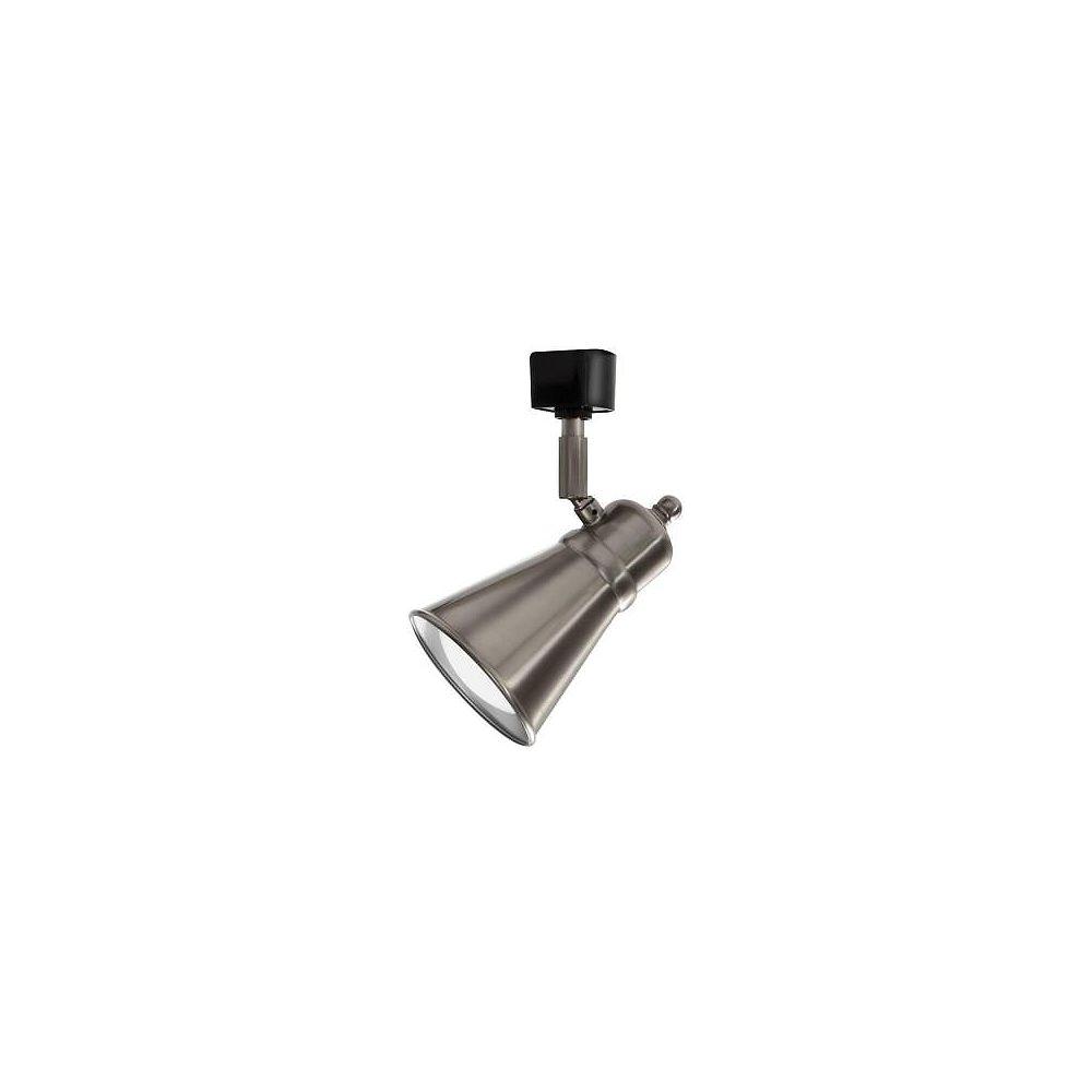 Lithonia Lighting Tête à déflecteur en nickel brossé à 1 lampe DEL déclairage sur rail
