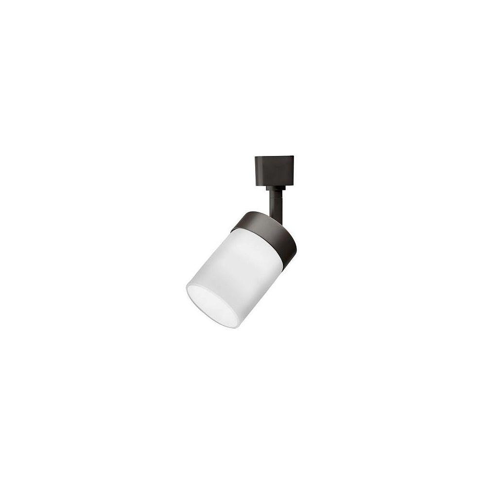 Lithonia Lighting Tête avec verre en manchon en bronze au fini huilé à1lampe halogène déclairage sur rail