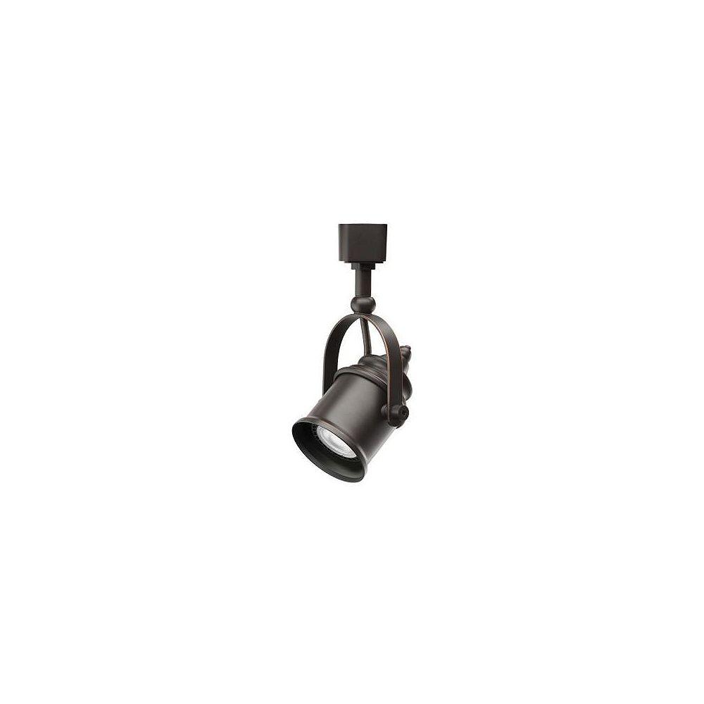 Lithonia Lighting Tête de type projecteur en bronze au fini huilé à1lampe halogène déclairage sur rail