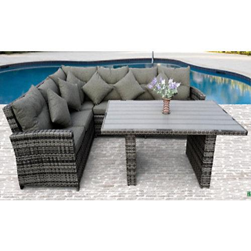 Patio Sofa/Dining Set