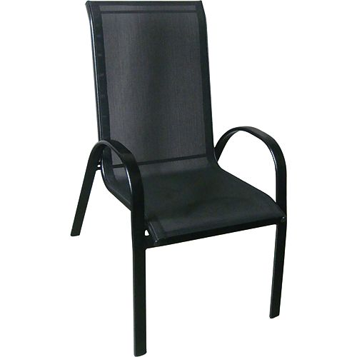 Stackable Patio Sling Dining Chair