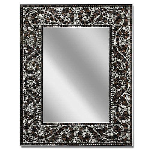 Home Decorators Collection 55.9 x 71.1 cm. Espresso Miroir Mosaique