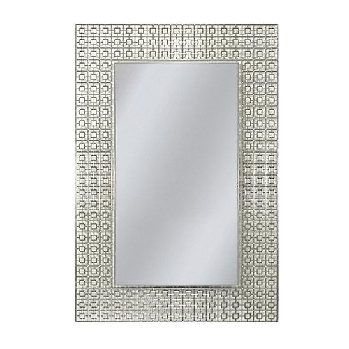 59.7 x 74.9 cm. Rectangle Geometrique Miroir