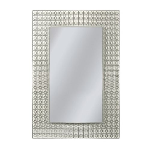 59.7 x 74.9 cm. Rectangle Geometrique Miroir