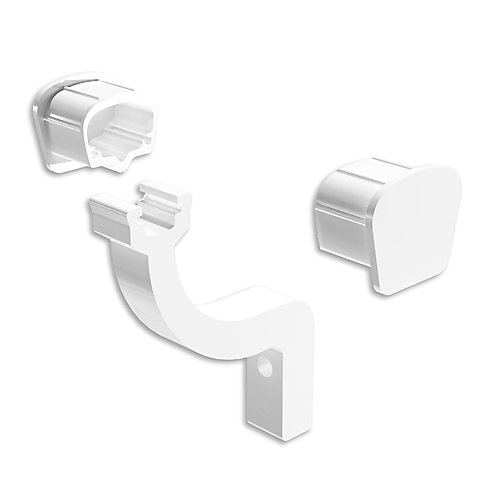 White Continuous Handrail Bracket and End Caps