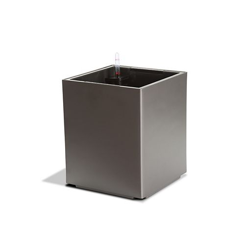 12201 Self-Watering Modena Cube Planter in Matte Granite