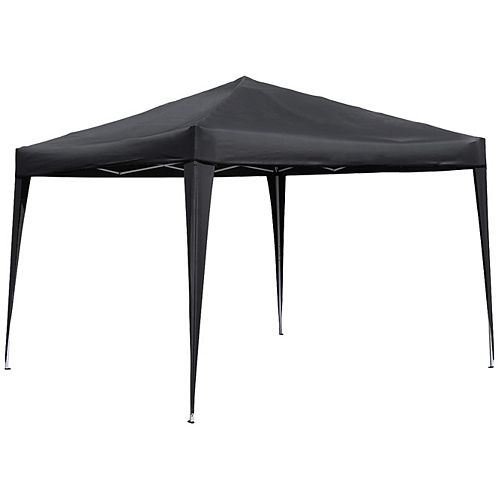 10 ft. x 10 ft. Pop-Up Gazebo in Black