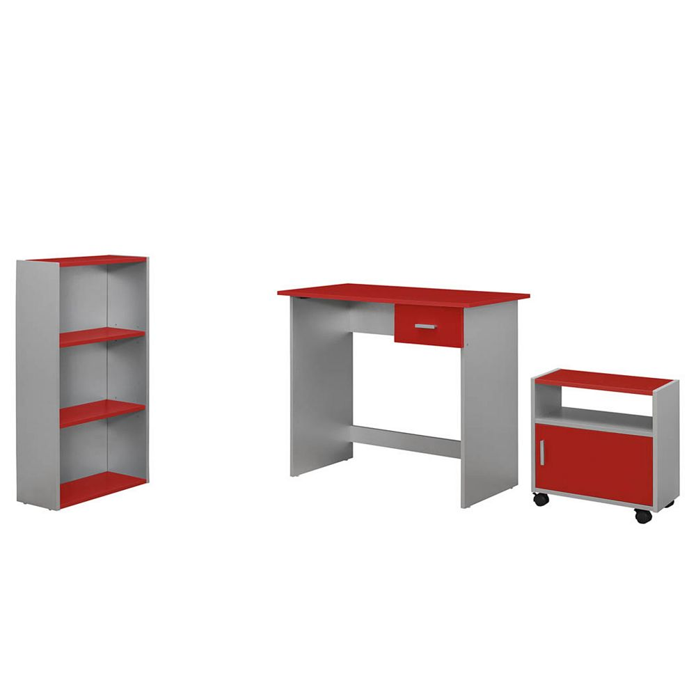 Monarch Specialties 36-inch x 30-inch x 18-inch Standard Computer Desk in Red