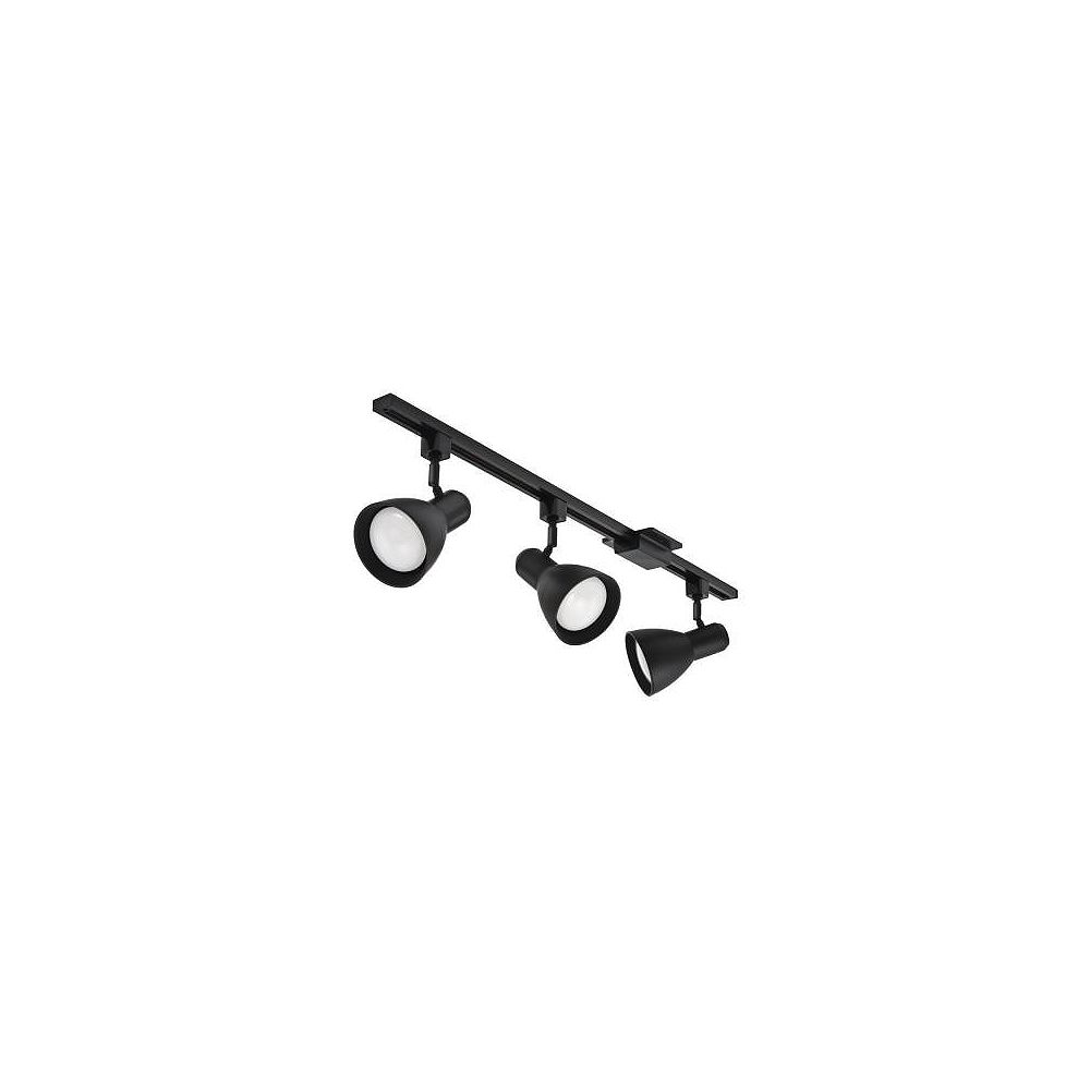 Lithonia Lighting Track Lighting 44.5 Inch -3 Light Track Kit Black Step Baffle Head - LED