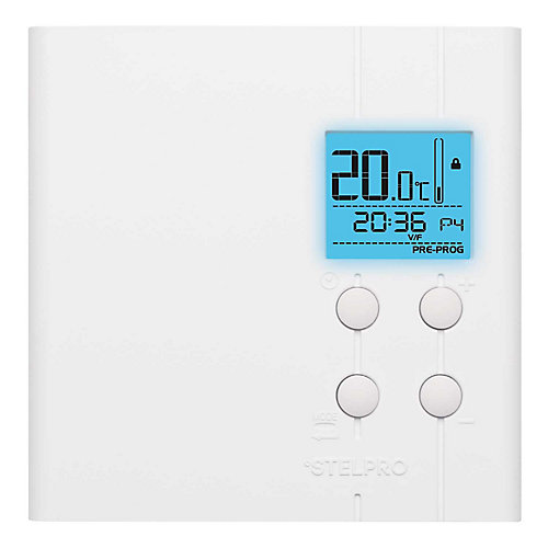 Electronic thermostat 2500 watts 240 volts